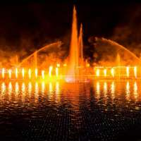 Decorative Fire Lake Dancing Floating Water Fountain